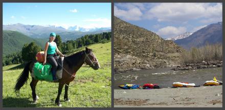 На лошадях к Белухе + Аккемский прорыв + Средняя Катунь